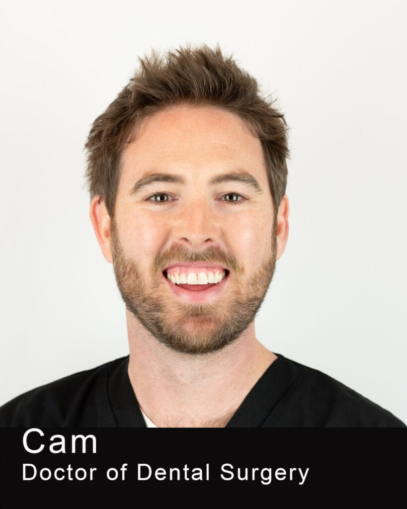 This Image shows the photo of Dr. Cam Crawford who is a doctor of dental surgery in Maple Leaf Dentistry.